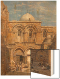The Church of the Holy Sepulchre, Jerusalem Wood Print by Carl Friedrich Heinrich Werner