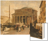 The Pantheon, Rome Wood Print by Veronika Mario Herwegen-manini