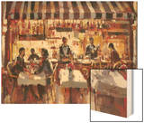 Patio Dining Wood Print by Brent Heighton