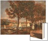 Le Pont D'Argenteuil Wood Sign by Renoir Pierre-Auguste