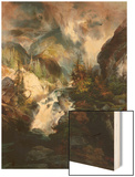 Children of the Mountain Wood Print by Thomas Moran