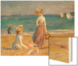 Figures on the Beach Wood Sign by Renoir Pierre-Auguste