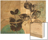 Leaf Kaleidescope 2 Wood Print by Matina Theodosiou