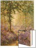 The Bluebell Wood Wood Print by Alfred Fontville de Breanski