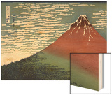 Red Fuji or South Wind, Clear Sky Wood Print by Katsushika Hokusai