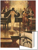 Jazz Night Out Wood Print by Brent Heighton