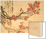 Plum Blossoms Wood Print by Wu Changshuo
