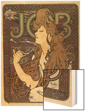 Job Wood Print by Alphonse Mucha