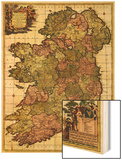 Ireland - Panoramic Map Wood Print by  Lantern Press