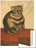 Le Chat Tigre Wood Print by Henri Rousseau