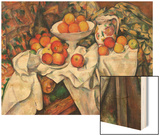 Apples and Oranges Wood Sign by Cézanne Paul