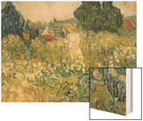 Mademoiselle Gachet in Her Garden at Auvers-Sur-Oise (Mademoiselle Gachet Wood Print by Vincent van Gogh