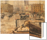 The New Moscow Wood Print by Yuri Ivanovich Pimenov
