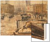 The New Moscow Wood Print by Yuri Ivanovich Pimenov