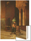 The Harem Guard Wood Print by Ludwig Deutsch