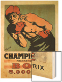 International Boxing Championship Wood Print
