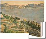 L'Estaque, View of the Bay of Marseilles Wood Sign by Cézanne Paul