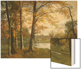 A Quiet Lake Wood Print by Albert Bierstadt