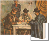 The Card Players Wood Sign by Cézanne Paul