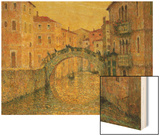 The Morning Sun, Venice Wood Print by Henri Le Sidaner