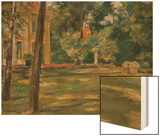 Wannseegarten Wood Print by Max Liebermann