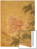 Peony Wood Print by Yun Shouping