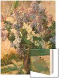 Flowers in the Window Wood Print by Mary Cassatt