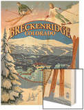 Breckenridge, Colorado Montage Wood Print by  Lantern Press