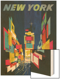 Travel Poster, New York City Wood Print