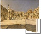 The Roman Forum Wood Print by Joseph Theodore Hansen