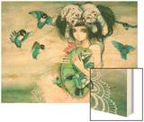 Iguana Wood Print by Camilla D'Errico