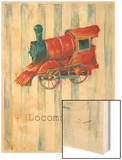 Locomotive Wood Print by Catherine Richards