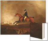 Thomas Mellish on His Hunter 'saucebox' Wood Print by Benjamin Marshall