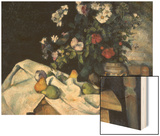 Still Life with Flowers and Fruits Wood Sign by Cézanne Paul