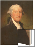 George Washington Wood Print by Gilbert Stewart
