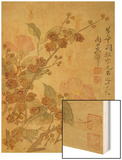 Plum Blossom and Camelias Wood Print by Yun Shouping