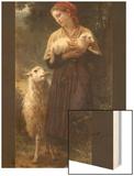 The Newborn Lamb Wood Print by William Adolphe Bouguereau