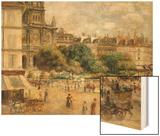 Place De La Trinite Wood Sign by Renoir Pierre-Auguste