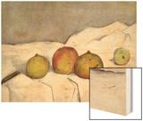 Fruit on a Cloth Wood Sign by Cézanne Paul