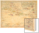 1913, Bahamas, The, Cuba, Dominican Republic, Jamaica, Puerto Rico, Central America, West Indies Wood Print