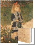Girl with a Watering Can Wood Sign by Renoir Pierre-Auguste