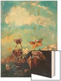 Butterflies Wood Print by Redon Odilon