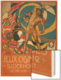 Poster for Stockholm Olympics 1912 Wood Print