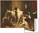 The Puckeridge Foxhounds Rantipole, Rummager, Racer, and Reveller Wood Print by Thomas Woodward