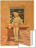 Violetta Wood Print by Maxfield Parrish