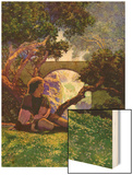 The Knave of Hearts in the Meadow Wood Print by Maxfield Parrish