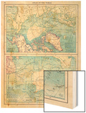 1913, North Pole, South Pole, North and South Polar Regions Wood Print