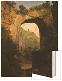 Natural Bridge, Virginia Wood Print by Frederic Edwin Church