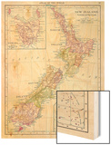 1913, New Zealand, Oceania, New Zealand, Tasmania and Fiji Islands Print