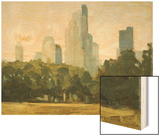 Central Park Skyline Wood Print by Mary Iverson